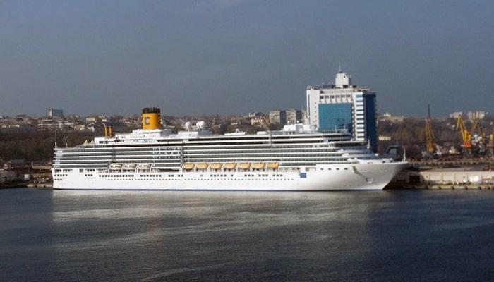 Costa Deliziosa в Одессе 2013 год