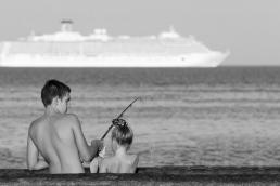 Художественная фотография морской рыбалки в Одессе